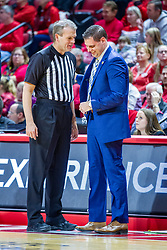 NORMAL, IL - December 07: Randy Heimerman and Preston Spradlin have a light hearted conversation during a college basketball game between the ISU Redbirds and the Morehead State Eagles on December 07 2019 at Redbird Arena in Normal, IL. (Photo by Alan Look)
