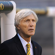 EAST RUTHERFORD, NEW JERSEY - JUNE 17:  Jose Pekerman, head coach of Colombia, in the dugout before the Colombia Vs Peru Quarterfinal match of the Copa America Centenario USA 2016 Tournament at MetLife Stadium on June 17, 2016 in East Rutherford, New Jersey. (Photo by Tim Clayton/Corbis via Getty Images)