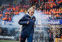 Den Bosch - Rabo fandag 2019 . hockey clinics met de spelers van het Nederlandse team. opkomst van international Anne Veenendaal  (Ned) .   COPYRIGHT KOEN SUYK