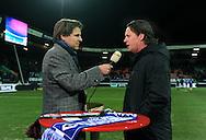 17-02-2009 TOINE VAN PEPERSTRATEN<br /> Toine van Peperstraten in een interview met Mario Been voor NEC - HSV voor de Uefacup <br /> Foto: Geert van Erven