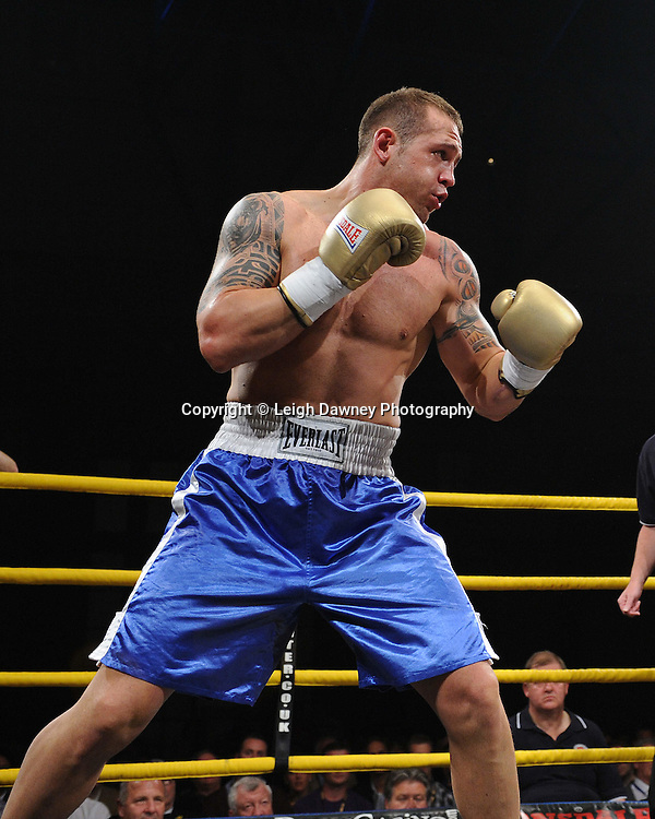Konstantin Airich defeats Lucian Bot (pictured) in Quarter Final 4 at Prizefighter International on Saturday 7th May 2011. Prizefighter / Matchroom. Photo credit © Leigh Dawney. Alexandra Palace, London.
