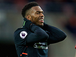 SUNDERLAND, ENGLAND - Monday, January 2, 2017: Liverpool's Daniel Sturridge looks dejected after missing a chance against Sunderland during the FA Premier League match at the Stadium of Light. (Pic by David Rawcliffe/Propaganda)
