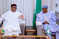 September 5, 2017 - Daura, Katsina State, Nigeria - President Muhammadu Buhari  receives President of Niger H.E. Muhammadou Issoufou  in  Daura, Katsina State, Nigeria. 5th September 2017  (Credit Image: © Next24online/NurPhoto via ZUMA Press)