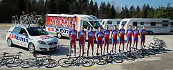Cycling Team Adria Mobil during team photo session ahead of the 2014 road season on February 25, 2014 in Cesca vas at Novo mesto, Slovenia. Photo by Vid Ponikvar / Sportida