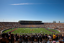 BERKELEY, CA - SEPTEMBER 08: General view of Memorial Stadium during the first quarter between the California Golden Bears and the Southern Utah Thunderbirds on September 8, 2012 in Berkeley, California. The California Golden Bears defeated the Southern Utah Thunderbirds 50-31. (Photo by Jason O. Watson/Getty Images) *** Local Caption ***