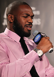Atlanta, GA - April 18, 2012:  UFC Light Heavyweight champion Jon Jones during the final press conference for UFC 145 at the Park Tavern in Atlanta, Georgia.