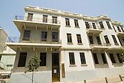 Israel, Tel Aviv, Renovated Bauhaus building at 46 Ehad Haam Street UNESCO has declared Tel Aviv an international heritage due to the abundance of the Bauhaus architectural style