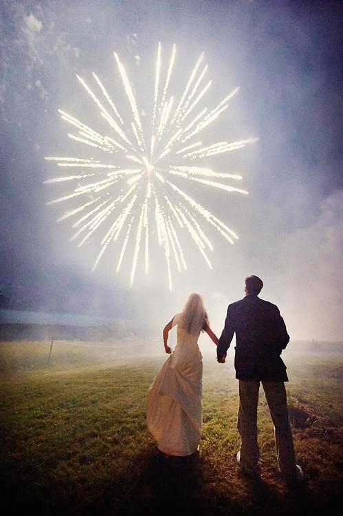 Maine Seacoast Wedding Fireworks.  Image by Maine Wedding Photographer, Puerto Vallarta Wedding Photographer, New York City Wedding Photographer and Philadelphia Wedding Photographer Michelle Turner.