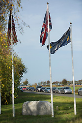 © Licensed to London News Pictures. 31/10/2014. Caterham F1 Leafield, Oxfordshire. Caterham F1 employees were called into work today but had to leave their cars outside on the road and pass through security to enter the F1 HQ at Leafield. The F1 team is now in Administration and will not be at the next two Grand Prix at Texas is the USA and Interlagos in Brazil. two F1 teams are now in administration caterham F1 and Marussia both based in Oxfordshire. Photo credit : MARK HEMSWORTH/LNP