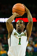 WACO, TX - JANUARY 7: Kenny Chery #1 of the Baylor Bears shoots a free-throw against the Kansas Jayhawks on January 7, 2015 at the Ferrell Center in Waco, Texas.  (Photo by Cooper Neill/Getty Images) *** Local Caption *** Kenny Chery