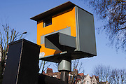 A speed camera, used to enforce speed limits on motorists. Stamford Hill, London.