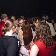 Teenagers dancing on a dance floor, Cardiff, 2000's,