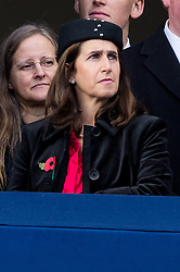 © Licensed to London News Pictures. 12/11/2017. London, UK. MARIA WHEELER attends a Remembrance Day Ceremony at the Cenotaph war memorial in London, United Kingdom, on November 13, 2016 . Thousands of people honour the war dead by gathering at the iconic memorial to lay wreaths and observe two minutes silence. Photo credit: Ray Tang/LNP