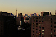 Skyline of New York City at dusk