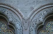 Deutschland, Germany,Hessen, Taunus, Bad Homburg.Hessen, Taunus, Bad Homburg.Portal Detail der Erlöserkirche (Jugendstil)....