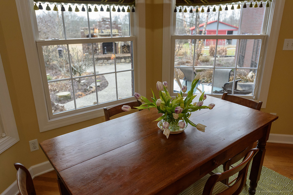 The breakfast nook at the home of Kristen and David Embry in Pendleton, Ky. Feb. 22, 2018