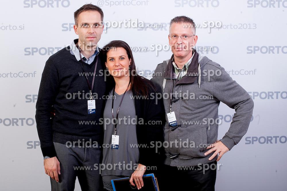 Dragan Perendija, Milena Slemic and Bart Hendrickx at sports marketing and sponsorship conference Sporto 2013, on November 21, 2013 in Hotel Slovenija, Congress centre, Portoroz / Portorose, Slovenia. Photo by Vid Ponikvar / Sportida