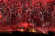 14 July Bastille day fireworks, Carcassonne, La Cite
