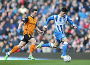 Joao Carlos Teixeira, Brighton midfielder during the Sky Bet Championship match between Brighton and Hove Albion and Wolverhampton Wanderers at the American Express Community Stadium, Brighton and Hove, England on 14 March 2015.