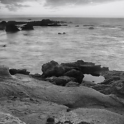Tidal Pool Reflection - Dusk - Fort Bragg, CA - Black & White