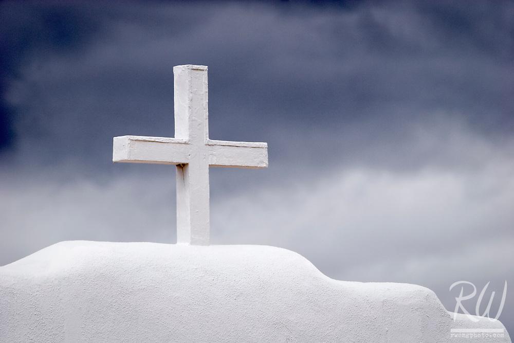 Christian Cross Atop St. Jerome Chapel, Taos Pueblo, New Mexico
