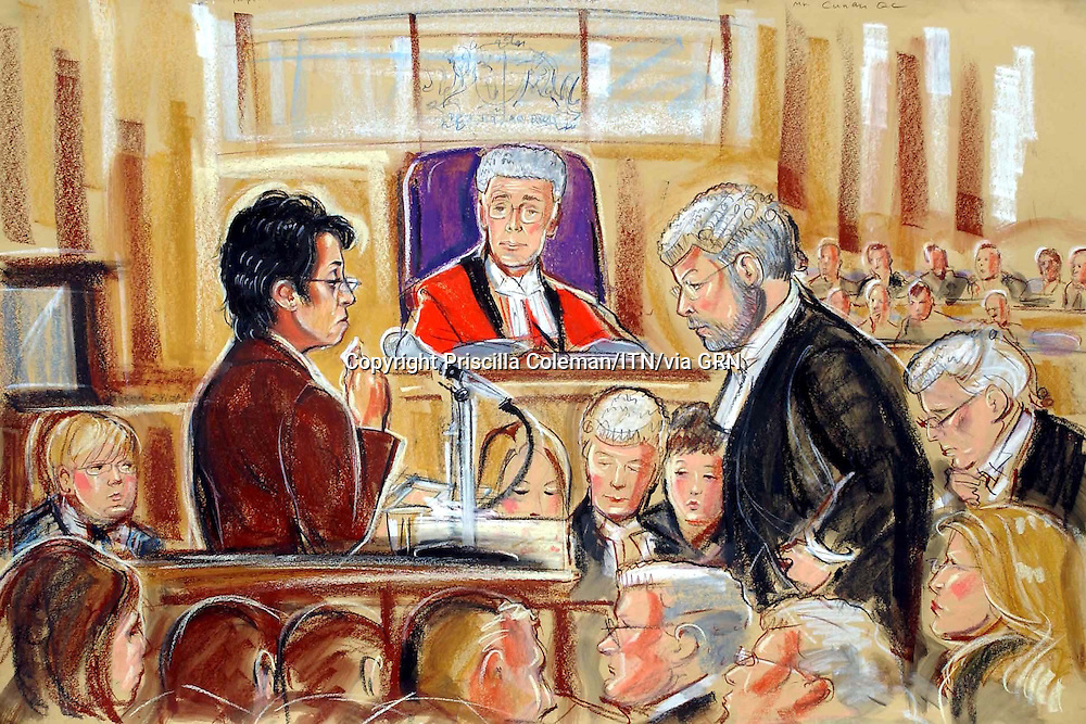 ©PRISCILLA COLEMAN ITV NEWS 22.05.03..SUPPLIED BY: PHOTONEWS SERVICE LTD OLD BAILEY..PIC SHOWS: Trupti Patel giving evidence at Reading Crown Court. Pictured also is defence barrister Kieran Coonan QC & Judge Justice Jack-SEE STORY..ILLUSTRATION: PRISCILLA COLEMAN ITV NEWS