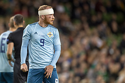 November 15, 2018 - Dublin, Ireland - Liam Boyce of N.Ireland with his bandaged head during the International Friendly match between Republic of Ireland and Northern Ireland at Aviva Stadium in Dublin, Ireland on November 15, 2018  (Credit Image: © Andrew Surma/NurPhoto via ZUMA Press)