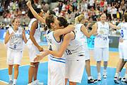 DESCRIZIONE : Riga Latvia Lettonia Eurobasket Women 2009 Semifinal 5th-8th Place Italia Lettonia Italy Latvia<br /> GIOCATORE : Laura Macchi Marinagela Cirone<br /> SQUADRA : Italia Italy<br /> EVENTO : Eurobasket Women 2009 Campionati Europei Donne 2009 <br /> GARA : Italia Lettonia Italy Latvia<br /> DATA : 19/06/2009 <br /> CATEGORIA : esultanza<br /> SPORT : Pallacanestro <br /> AUTORE : Agenzia Ciamillo-Castoria/M.Marchi<br /> Galleria : Eurobasket Women 2009 <br /> Fotonotizia : Riga Latvia Lettonia Eurobasket Women 2009 Semifinal 5th-8th Place Italia Lettonia Italy Latvia<br /> Predefinita :