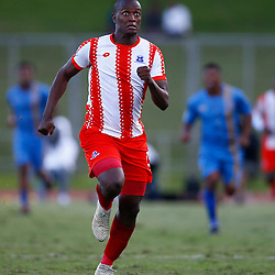 Judas Moseamedi of Maritzburg Utd during the Premier Soccer League (PSL) promotion play-off  match between  Royal Eagles and Maritzburg United F.C. at the Chatsworth Stadium Durban.South Africa,29,05,2019