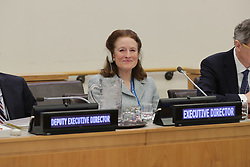 February 6, 2018 - New York, NY, USA - United Nations, New York, USA, February 06 2018 - Henrietta H. Fore, new UNICEF Executive Director During a Executive Board Meeting today at the UN Headquarters in New York..Photo: Luiz Rampelotto/EuropaNewswire (Credit Image: © Luiz Rampelotto via ZUMA Wire)
