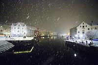 Vinterstemning i Ålesund.<br /> Foto: Svein Ove Ekornesvåg