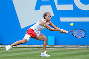 Barbora Strycovain action during the final during the Aegon Classic at Edgbaston Priory Club, Birmingham, United Kingdom on 19 June 2016. Photo by Shane Healey.