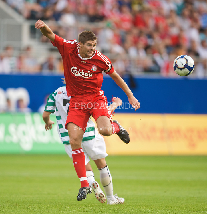 ST GALLEN, SWITZERLAND - Wednesday, July 15, 2009: Liverpool's captain Steven Gerrard MBE during their opening preseason friendly match against FC St Gallen at the AFG Arena. (Pic by David Rawcliffe/Propaganda)
