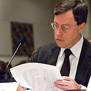 """Philip Zelikow, Executive Director of the Commission. Commission staffers present Staff Statement No. 15, """"Overview of the Enemy."""" The 9/11 Commission's 12th public hearing on """"The 9/11 Plot"""" and """"National Crisis Management"""" was held June 16-17, 2004, in Washington, DC."""