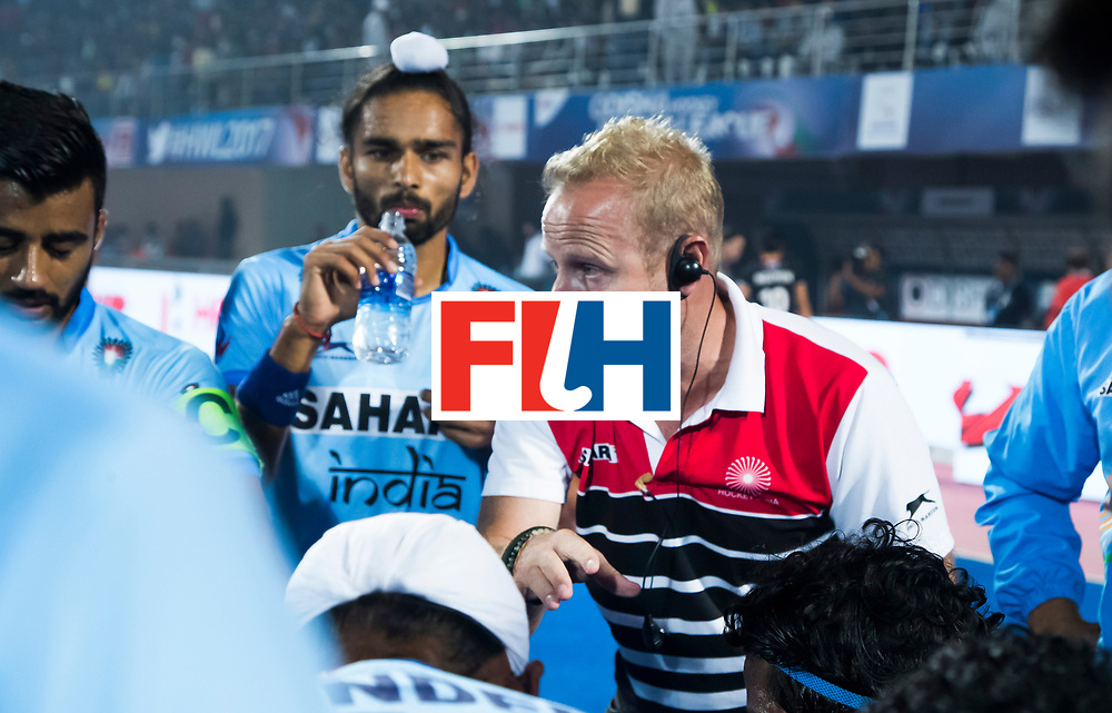 BHUBANESWAR - The Odisha Men's Hockey World League Final . coach Sjoerd Marijne (Ind) during  the match India v Germany. WORLDSPORTPICS COPYRIGHT  KOEN SUYK