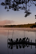 Sunrise over Trout Lake in the Northwoods village of Boulder Junction, Wisconsin.