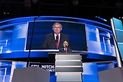 Senate Majority leader Senator Mitch McConnell addresses the second day of the Republican National Convention July 19, 2016 in Cleveland, Ohio. Earlier in the day the delegates formally nominated Donald J. Trump for president.