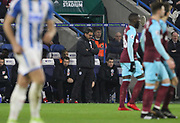 Huddersfield Town's Head Coach David Wagner during the Premier League match between Huddersfield Town and West Ham United at the John Smiths Stadium, Huddersfield, England on 13 January 2018. Photo by Paul Thompson.