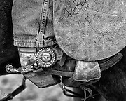 This cowboy spent some time in Texas, probably in the south where he would need the protection that his heavy batwing chaps would provide.