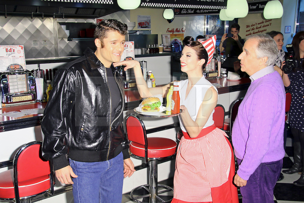 ©  London News Pictures. Ben Freeman; Henry Winkler, Happy Days: A New Musical - photocall, Ed's Easy Diner, London UK, 08 January 2014, Photo credit: Richard Goldschmidt/LNP