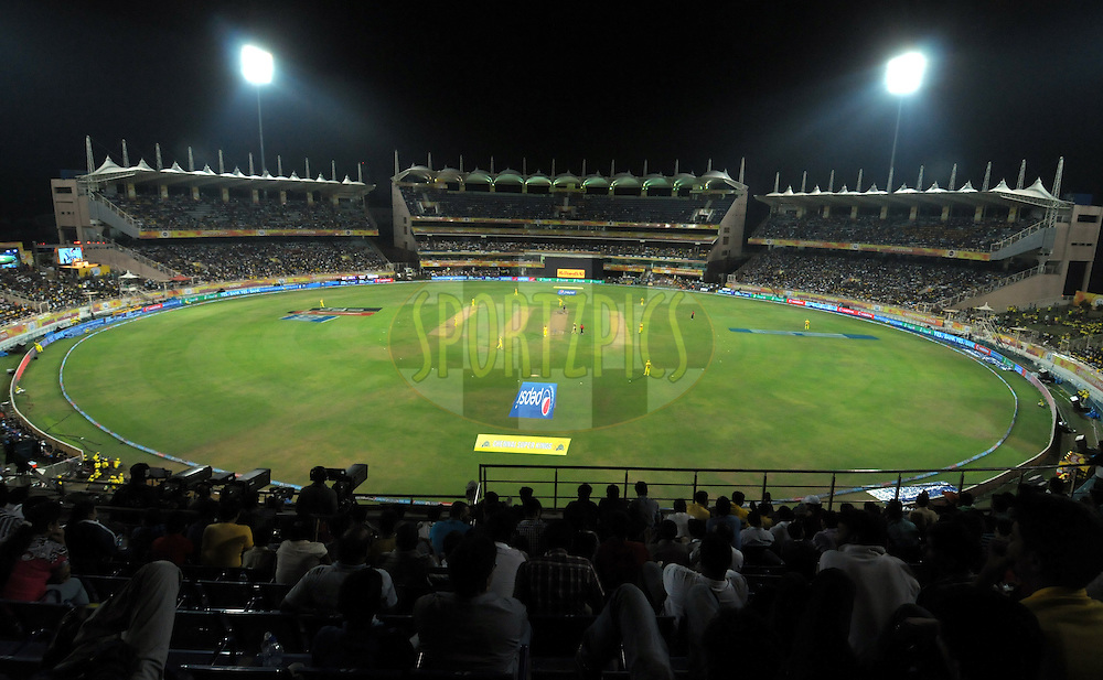 A top view of ground during match 21 of the Pepsi Indian Premier League Season 2014 between the Chennai Superkings and the Kolkata Knight Riders  held at the JSCA International Cricket Stadium, Ranch, India on the 2nd May  2014<br /> <br /> Photo by Arjun Panwar / IPL / SPORTZPICS<br /> <br /> <br /> <br /> Image use subject to terms and conditions which can be found here:  http://sportzpics.photoshelter.com/gallery/Pepsi-IPL-Image-terms-and-conditions/G00004VW1IVJ.gB0/C0000TScjhBM6ikg