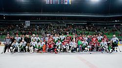 Players after ice-hockey friendly match between legends of HDD Tilia Olimpija and HK Acroni Jesenice, on April 14, 2012 at SRC Stozice, Ljubljana, Slovenia. (Photo By Matic Klansek Velej / Sportida.com)