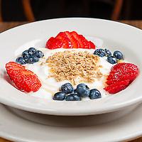 Parfait<br /> Plain yogurt, graNOLA, fresh berries and honey. Jimmy J's Cafe, 115 Chartres St. New Orleans, LA 70130