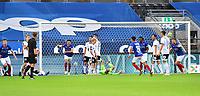 Fotball Menn Eliteserien Rosenborg-Vålerenga<br /> Lerkendal Stadion,Trondheim<br /> 1 juli 2020<br /> <br /> <br /> Ivan Näsberg (V) har scoret og utlignet til 1-1 for Vålerenga<br /> <br /> <br /> <br /> Foto : Arve Johnsen, Digitalsport