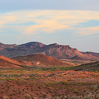 Face Mountain, photographed at sunset. Desert area west of Tucson, Arizona.