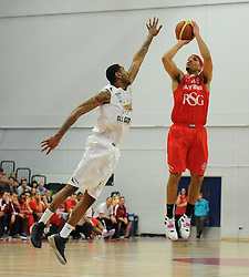 Bristol Flyers' Greg Streete takes a shot - Photo mandatory by-line: Dougie Allward/JMP - Mobile: 07966 386802 - 28/03/2015 - SPORT - Basketball - Bristol - SGS Wise Campus - Bristol Flyers v London Lions - British Basketball League