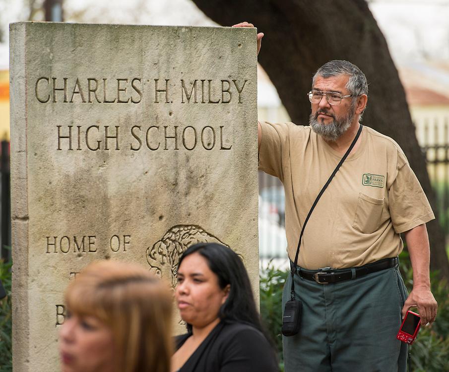 Groundbreaking ceremony at Milby High School, December 18, 2014.