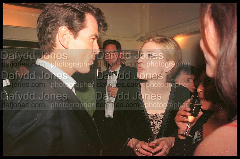 PIERCE BROSNAN; CATE BLANCHETT,  Tatler Bafta party hosted by Jane Procter and Charles Finch. Lola's. Upper St. London. April 1999.