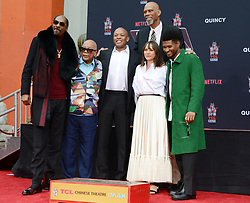 Composer Quincy Jones gets his hands and footprints in cement at the TCL Chinese Theatre in Hollywood, Ca<br /><br />27 November 2018.<br /><br />Please byline: Quarterflash/Vantagenews.com