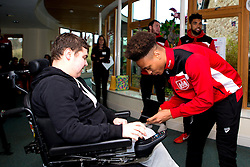 Bobby Reid of Bristol City signs autographs during Bristol City's visit to the Children's Hospice South West at Charlton Farm - Mandatory by-line: Robbie Stephenson/JMP - 21/12/2016 - FOOTBALL - Children's Hospice South West - Bristol , England - Bristol City Children's Hospice Visit